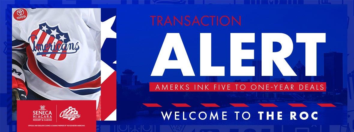 AMERKS SIGN FIVE TO AHL DEALS