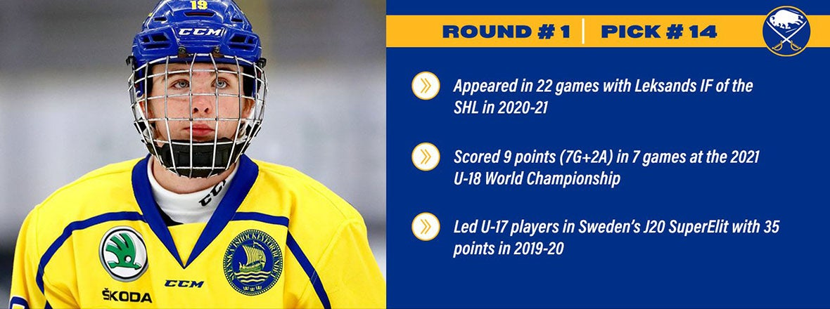 SABRES TAKE ROSEN 14TH OVERALL IN 2021 NHL DRAFT